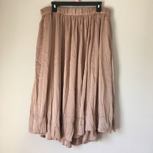 NWT Philosophy Champagne Midi Skirt